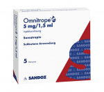 Omnitrope Cartridge 5 mg/1,5 ml (1 cartridge)